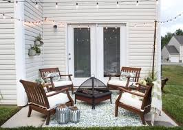 Small Patio Design How To Decorate A Small Patio Small Patio Outdoor String