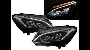 mercedes c class headlights crazythegod c class w205 15 present led projector halogen