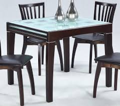 dining elegant glass top expandable dining table sets expandable