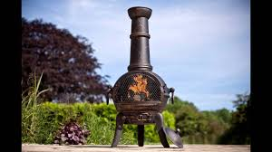 Bronze Cast Iron Chiminea Large Bronze Cast Iron Steel Mix Chiminea Chimenea With Youtube