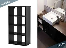 l fter badezimmer before and after bathroom vanity from an ikea kallax curbly