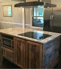 barnwood kitchen island made reclaimed barnwood kitchen island by wmww custommade