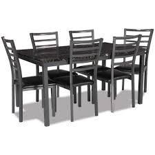natasha 7 piece dining set hs 121 7pc home smart hs 121 t ch 6 afw