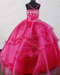 popular pink straps ruffled pageant dresses for toddlers 154 69