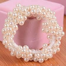 pearl bracelet elastic images Women girl diy headband bracelet simulation pearl hairband rope jpg