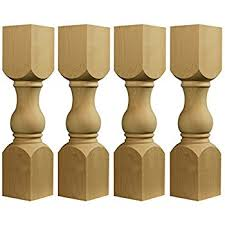 Coffee Tables Legs Unfinished Balustrade Coffee Table Legs 10t X 7w Set Of 4