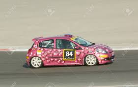 renault dubai dubai january 13 car 84 a renault clio rs cup with an all