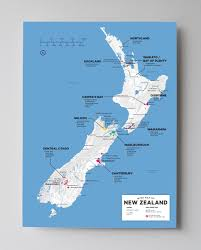 World Map New Zealand by New Zealand Wine Map Regional Wine And South Island
