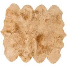 natural sheepskin area rug frontgate