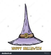 witch hat isolated on white vector stock vector 485953030