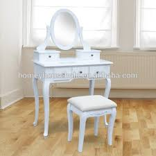Shabby Chic Vanity Table by New Traditional Wooden White Metal Knobs Shabby Chic Dressing