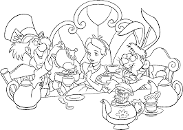 alice in wonderland coloring pages getcoloringpages com