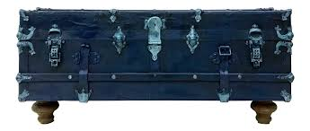 navy blue trunk coffee table chairish