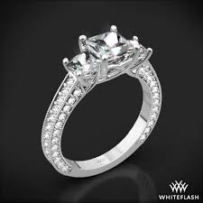 white engagement rings images 3 stone coeur de clara ashley diamond engagement ring for princess jpg