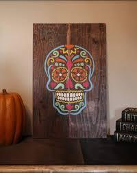 dia de los muertos home decor make a sugar skull decoration with a stencil sugar skull stencil