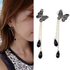 earring styles new korean style butterfly earrings tassel ear drop