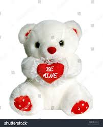 be mine teddy white teddy holding heart pillow stock photo 880676