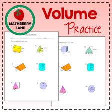 volume of solids worksheet prisms cylinders cones pyramids