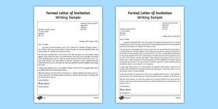 letter of invitation writing sample