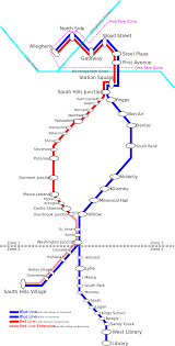 Mbta T Map by Pittsburgh T Map My Blog