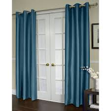 shantung grommet curtain panel teal 84 in at home at home