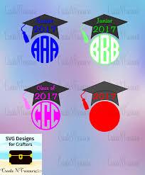 graduation cap frame 2017 graduation monogram frames svg dxf cutting file for