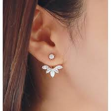earrings ear leaf ear jacket earrings walmart