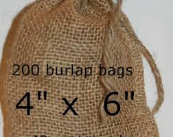 burlap favor bags burlap bags wedding burlap favor bags rustic wedding 100