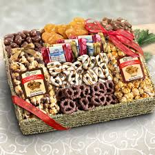 snack basket chocolate caramel and crunch grand gift basket aa4056 a gift