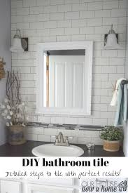 tile up ugly away how to tile a bathroom u2022 our house now a home
