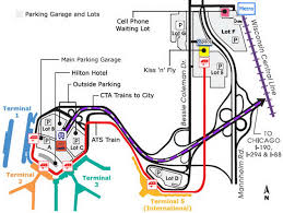Chicago Airport Terminal Map by O Hare Parking Map Chicago O Hare Parking Map United States Of