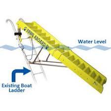 jif duf4 4 step telescoping pontoon ladder stainless 316 duf4