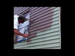painting vinyl siding ugly green house youtube