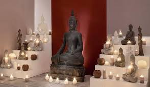 Buddha Room Decor Ethnic Interior Decorating Ideas Mixing Neutral Colors With
