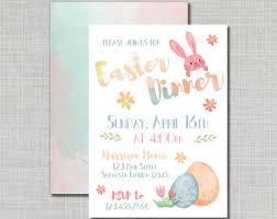 easter brunch invitations easter lunch invite etsy