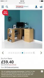 Tesco Computer Desk 40 Office Furniture At Tesco Direct Ie Fraser Oak Effect