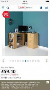 Small Computer Desk Tesco 40 Off Office Furniture At Tesco Direct Ie Fraser Oak Effect