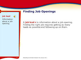 chapter 38 finding and applying for a job ppt download