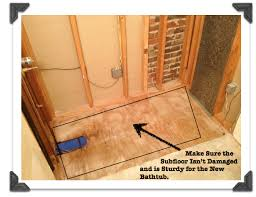 bathroom remodeling part 1 how to install a bathtub