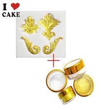 silicone mold golden sugar natural pigment fondant cake decorating
