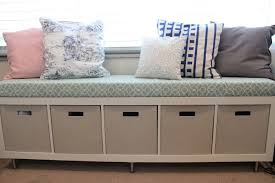 Build Storage Ottoman by Storage Bench With Cushion