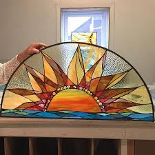 how to tea stain glass l shades 538 best sun moon stars stained glass images on pinterest
