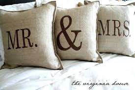 mr and mrs pillows amazing mr and mrs pillow and personalized s throw pillow 74