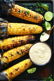 vegan sriracha mayo grilled corn with sriracha aioli minimalist baker recipes