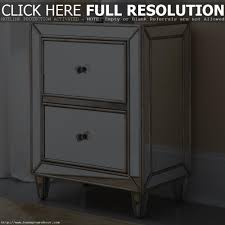 Mirrored Glass Nightstand with Metal And Glass Nightstand 12