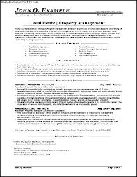 Property Management Resume Template Real Estate Resumes Cover Letter For Resume Real Estate Cover