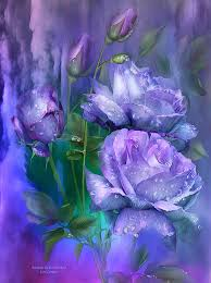 lavender roses raindrops on lavender roses mixed media by carol cavalaris