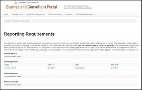 grant report template using the portal community portal