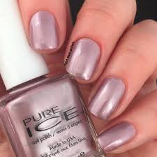 swatch of pure ice nail polish outrageous by get that polish