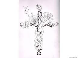 tattoo cross cross with flowers tattoo cross flower tattoo tattoo collection